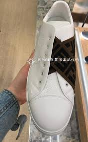 fendi sneakers white leather slip on