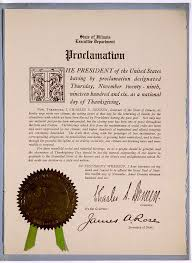 Thanksgiving proclamation State of Illinois Charles S. Deneen ...