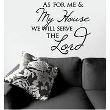 My Thoughtful Wall As For Me And My House Vinyl Wall Decal Black 17 1 2 X 19 3 4 Inches Mardel 2109403