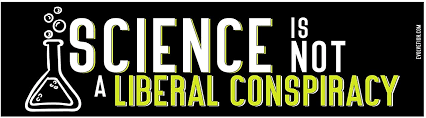 "Amazon.com: EvolveFISH Science is Not a Liberal Conspiracy Bumper Sticker - [11"" x 3""]: Automotive"