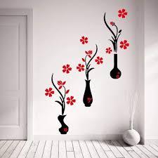 29 Amazing Flower Vase Wall Stickers Decorative Vase Ideas