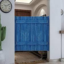 Swing Swinging Doors Cafe Doors Premade Solid Wood Cowboy Door Partition Gate Fence Stainless Steel Spring Hinge For Bar Entrance Bathroom Color Blue Size 130x70cm Buy Online At Best Price
