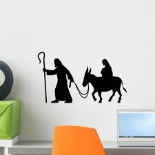 Traveling Mary And Joseph Wall Decal Wallmonkeys Peel And Stick Graphics 18 In H X 18 In W Wm502529 Walmart Com Walmart Com