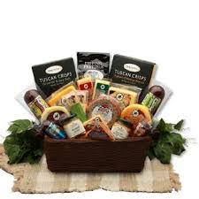 grand meat and cheese gift basket