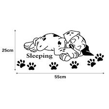 Shop Cartoon Cute Sleeping Puppy Dog Paw Prints Decals 10 X 22 Wall Vinyl Overstock 18264725