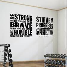 2 Gym Word Square Motivational Wall Art Decals Be Strong When Strive Designdivil