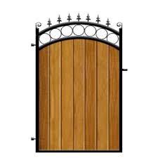 garden gates metal framed timber