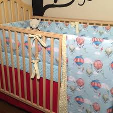 hot air balloon crib sheet baby boy