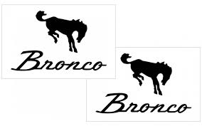 Graphic Express Ford Bronco Decal Set 4 4 X 7
