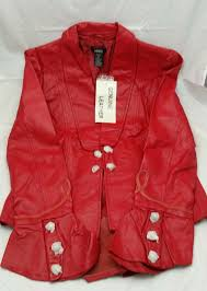 metro style red leather women s jacket