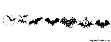 Bats symbols Font Download Free / LegionFonts