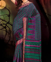 green zoya cal silk saree