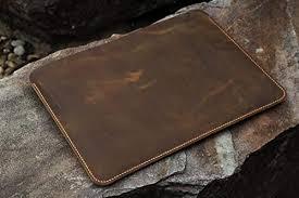 handmade genuine leather macbook sleeve