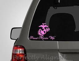 Proud Marine Wife Spouse Car Decal Marine Wife Marine Etsy