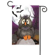 studio m moonlight owl garden flag