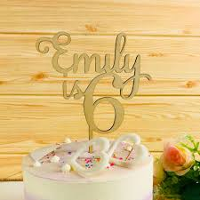 Personalized Birthday Cake Topper Customized Name Cake Topper Wooden Cake Toppers Cake Toppers