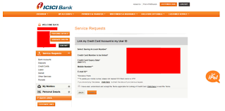icici credit card net banking
