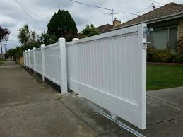White Wooden Sliding Gate Backyard Fences Wooden Garden Gate Fence Design