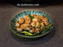 Lemony Shrimp Over Zucchini