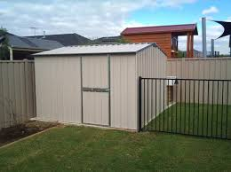garden shed to a concrete slab
