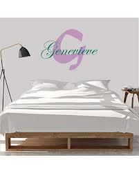 Spectacular Sales For Girl S Custom Name And Initial Wall Decal Choose Your Own Name Initial And Letter Styles Multiple Sizes Personalized Name Wall Decal Custom Girl S Name Wall Vinyl Decal Sticker Vinyl