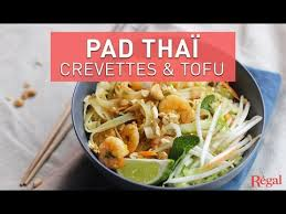pad thaï aux crevettes et au tofu