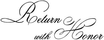 Return With Honor Wall Decal Christian Vinyl Wall Art Etsy