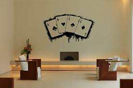 Amazon Com Wall Vinyl Sticker Decals Mural Room Design Pattern Art Decor Ace Card Game Play Fun Casino Bo2098 Baby