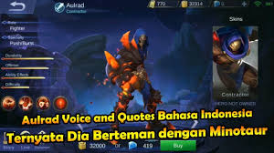 aulrad voice and quotes bahasa mobile legends