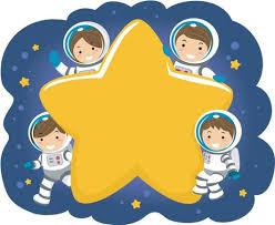 Stickman Kids Family Astronaut Wall Decal Wallmonkeys Com