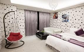 غرف نوم تصميم مع خلفية مختلفة النسخة الاسكندنافية من لصق ورق