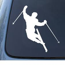 Skier Downhill Skiing Vinyl Car Decal Sticker 1331 Vinyl Color White Amazon Com Books