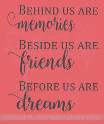 memories friends dreams vinyl lettering art family wall sticker