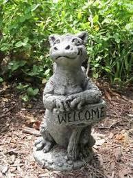 stone baby animal garden statue
