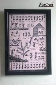 warli painting on handmade paper