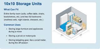self storage unit size guide