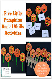Social Skills Activities With Five Little Pumpkins