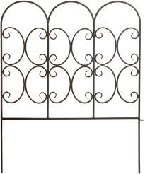 Panacea 87401 Triple Arch Edge Fence 31 X24 Black Amazon Ca Patio Lawn Garden