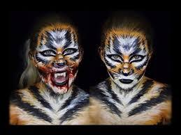 tiger makeup tutorial face body paint