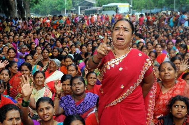 ANGANWADI WORKERS STRIKE IN STATE