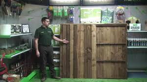 G G Double Sided Closeboard Fence Panel Youtube