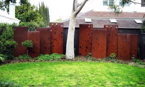 corten steel fence panel metal
