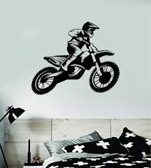 Dirtbiker V8 Motorcycle Sports Decal Sticker Bedroom Room Wall Vinyl A Boop Decals