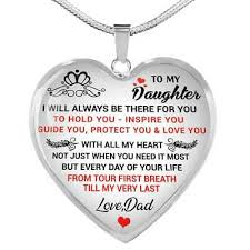 love dad necklace heart pendant luxury