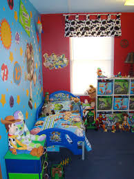 Toy Story Room We Re Doing Future Baby S Nursery Like Andy S Room But I Like The Cow Print Curtains Pro Toy Story Room Toy Story Bedroom Toddler Boys Room