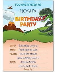 Invitaciones De Cumpleanos Con Sobres De Dinosaurios Paquet