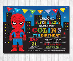 Invitacion De Cumpleanos De Spiderman Fiesta De Spiderman