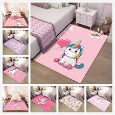 Pink Cartoon Unicorn Pattern 3d Carpets Child Bedroom Play Rug Kids Room Decor Carpet Baby Crawl Mat Children Christmas Gift Rug Carpet Aliexpress