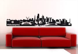Philadelphia Skyline Wall Decal This Amazing Wall Sticker Is Available In 6 Sizes And More Than 30 Colours It Wall Decals Decal Wall Art Philadelphia Skyline