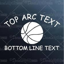 Sports Decals Basketball Decals Decalsbyus Com